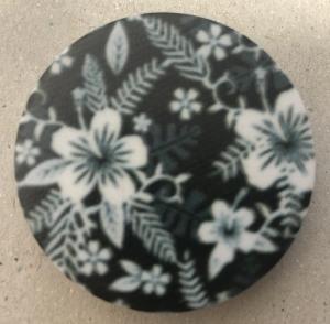 Držák PopSocket - barva černá, květina