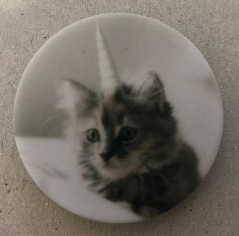 Držák PopSocket - barva šedá, kotě