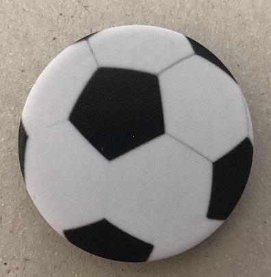 Držák PopSocket - barva bílá, fotbalový míč