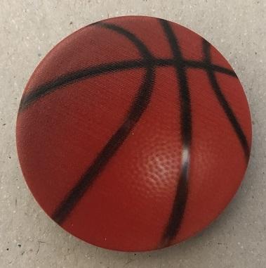 Držák PopSocket - barva oranžová, basketbalový míč