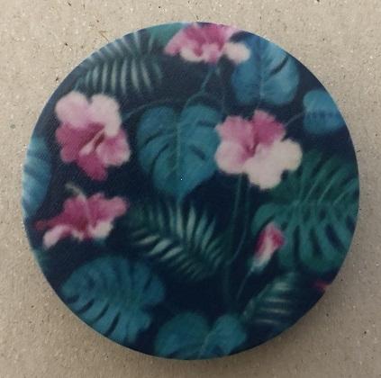 Držák PopSocket - barva zelená, květina