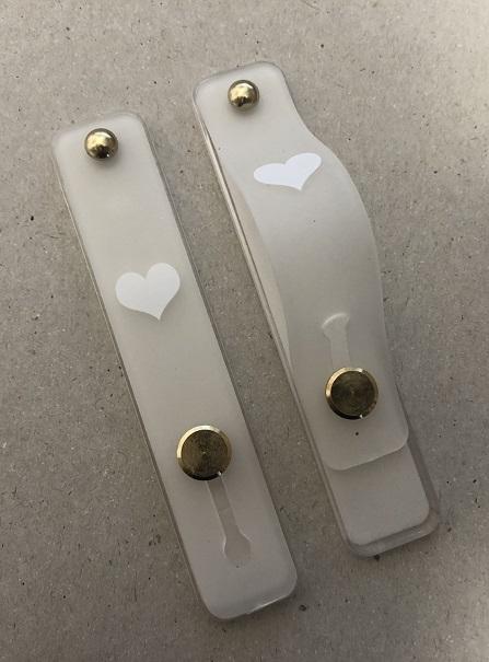Držák PopSocket Typ 2 - barva bílá, Srdce