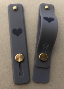 Držák PopSocket Typ 2 - barva šedá, Srdce