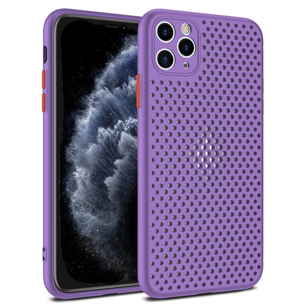 Pouzdro Breath Case Samsung A415 Galaxy A41, barva fialová