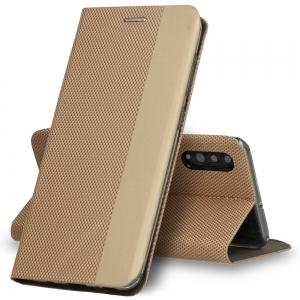 Pouzdro Sensitive Book Samsung A415 Galaxy A41, barva zlatá
