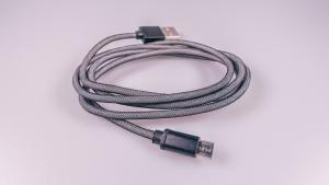 Datový kabel micro USB barva černá - nylon