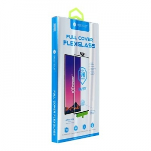 Tvrzené sklo 5D FLEXIBLE NANO Huawei P40 PRO černá - (Hot Banding)