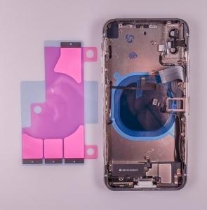 Kryt baterie + střední iPhone X (5,8) originál barva white - OSAZENÝ