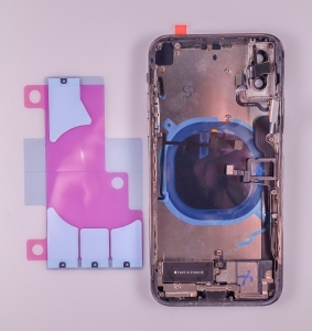 Kryt baterie + střední iPhone X (5,8) originál barva black - OSAZENÝ