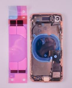 Kryt baterie + střední iPhone 8 (4,7) originál barva gold - OSAZENÝ