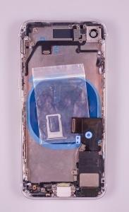 Kryt baterie + střední iPhone 8 (4,7) originál barva silver - OSAZENÝ