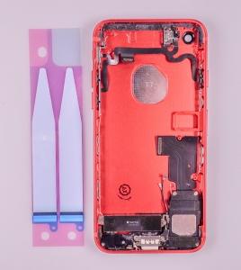 Kryt baterie + střední iPhone 7 (4,7) originál barva red - OSAZENÝ