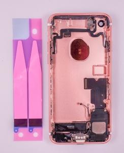 Kryt baterie + střední iPhone 7 (4,7) originál barva rose gold - OSAZENÝ