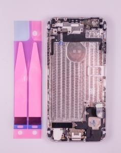 Kryt baterie + střední iPhone 6 4,7 originál barva silver / white - OSAZENÝ