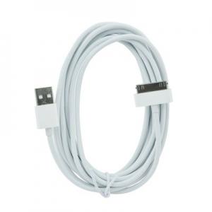Datový kabel iPhone 3G, 3GS, 4, 4S barva bílá - 2 metry