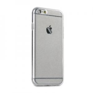 Pouzdro Back Case Ultra Slim Glitter 0,5mm iPhone 6, 6S (4,7) transparentní