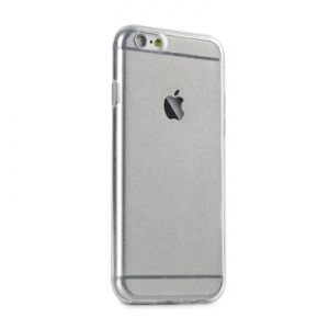 Pouzdro Back Case Ultra Slim Glitter 0,5mm Samsung A105 Galaxy A10 transparentní