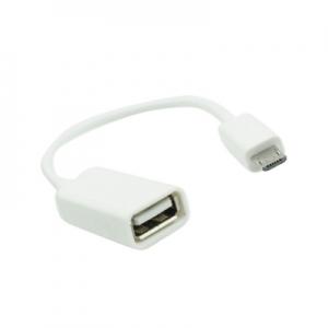 Micro USB adaptér pro USB OTG bílá