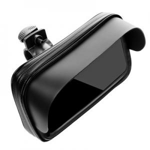 Držák na kolo, motorku se stříškou, barva černá , velikost XL: 5,5-6,3