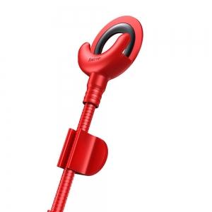 Datový kabel Baseus s držákem, Lightning konektor, barva červená