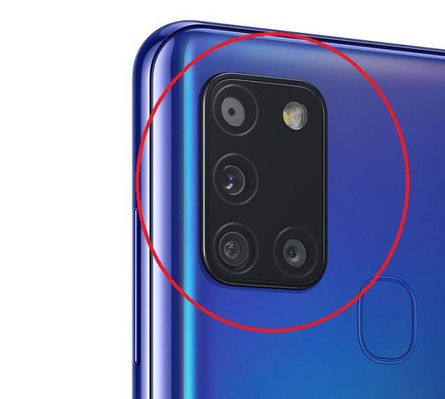 Sklíčko zadní kamery Samsung A217F Galaxy A21s black