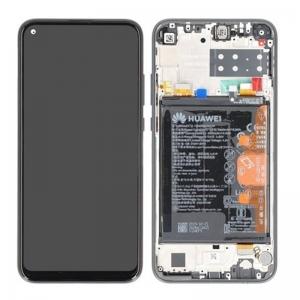 Dotyková deska Huawei P40 LITE E + LCD černá (SERVICE PACK)