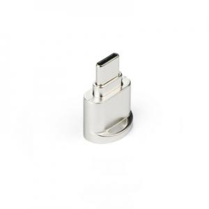 Čtečka microSD + micro USB Typ C, barva stříbrná