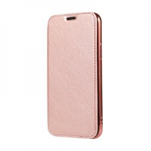 Pouzdro Electro Book iPhone 12, 12 Pro (6,1), barva růžová