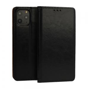 Pouzdro Book Leather Special iPhone 12, 12 Pro (6,1), barva černá