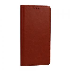 Pouzdro Book Leather Special iPhone 12, 12 Pro (6,1), barva hnědá