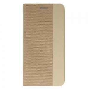 Pouzdro Sensitive Book iPhone 12, 12 Pro (6,1), barva zlatá