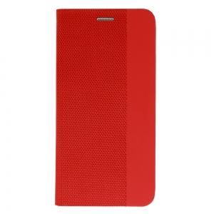 Pouzdro Sensitive Book iPhone 12, 12 Pro (6,1), barva červená