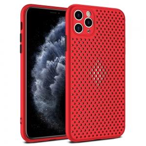 Pouzdro Breath Case iPhone 12, 12 Pro (6,1), barva červená