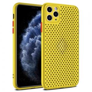 Pouzdro Breath Case iPhone 12, 12 Pro (6,1), barva žlutá
