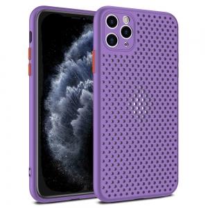 Pouzdro Breath Case iPhone 12, 12 Pro (6,1), barva fialová