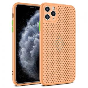 Pouzdro Breath Case iPhone 12, 12 Pro (6,1), barva oranžová