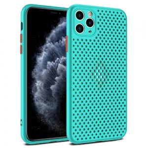 Pouzdro Breath Case iPhone 12, 12 Pro (6,1), barva tyrkysová