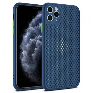 Pouzdro Breath Case iPhone 12, 12 Pro (6,1), barva modrá