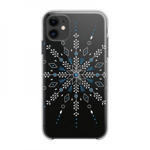 Pouzdro Winter iPhone 12, 12 Pro (6,1), vzor vločka