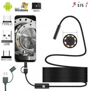 Inspekční (endoskopická) kamera 3v1, délka 5m, průměr 7mm