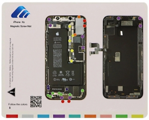 Magnetická podložka na opravu telefonu iPhone XS