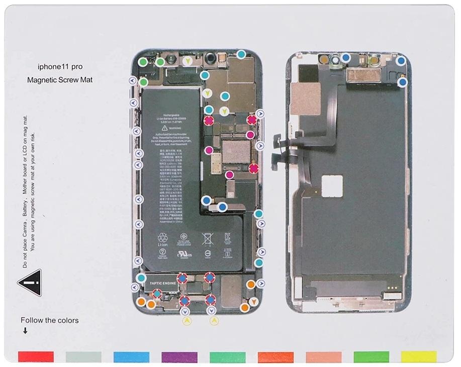 Magnetická podložka na opravu telefonu iPhone 11 PRO