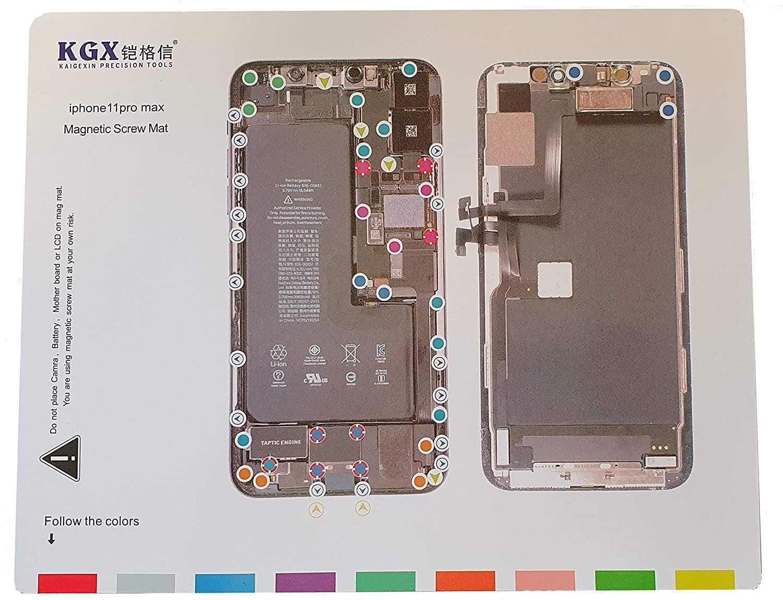 Magnetická podložka na opravu telefonu iPhone 11 PRO MAX