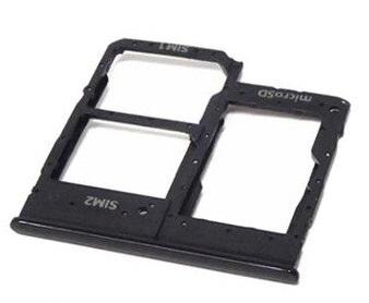 Držák (šuplík) SIM Samsung A202 Galaxy A20e black