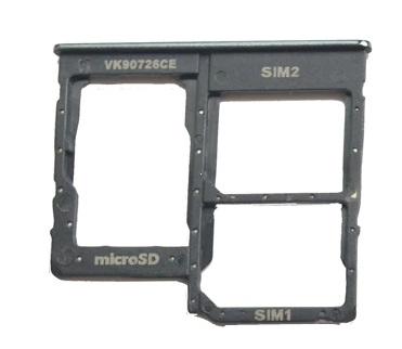 Držák (šuplík) SIM Samsung A405 Galaxy A40 black