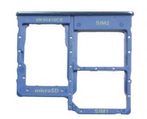 Držák (šuplík) SIM Samsung A405 Galaxy A40 blue
