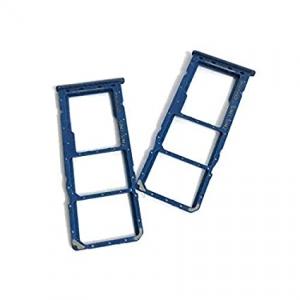 Držák (šuplík) SIM Samsung A505 Galaxy A50 blue
