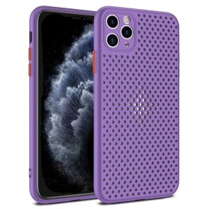 Pouzdro Breath Case iPhone 12 Mini (5,4), barva fialová