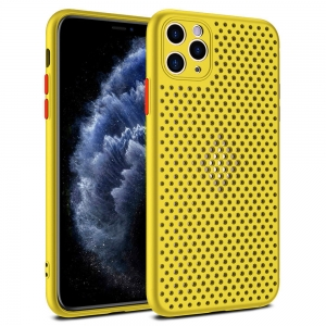 Pouzdro Breath Case iPhone 12 Mini (5,4), barva žlutá
