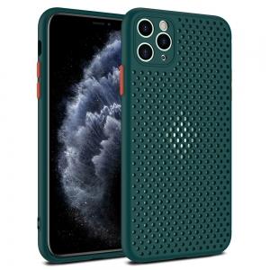Pouzdro Breath Case iPhone 12 Pro Max (6,7), barva zelená